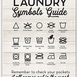 Stupell Industries Home Décor Laundry Symbols Guid